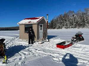 Pêche sur glace au Baskatong - Terrain à vendre